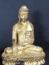 Antique Bouddha en Bois doré, Mandalay BIRMANIE