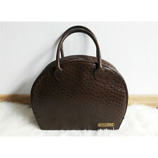 Moschino by Redwall vintage brown leather bag, crocodile, handles