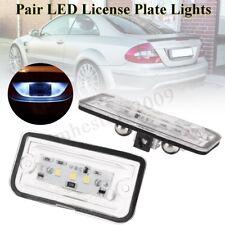 2Pcs 3-SMD LED License Plate Light For Mercedes Benz CLK280 500 W209 C209 02-09