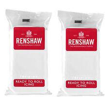 1 Kg Renshaw Ready To Roll Icing Fondant Cake Regalice Sugarpaste WHITE 1000g