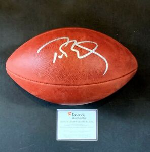 Tom Brady Signed NFL Official Duke Game Football Mint Autograph Fanatics COA