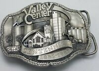 VTG Valley Center Kansas Centennial 1985 Pewter Ltd Ed Belt Buckle 60 / 1800