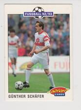 Panini Fussball 92-93 Action Cards #207 Gunther Schafer VFB Stuttgart
