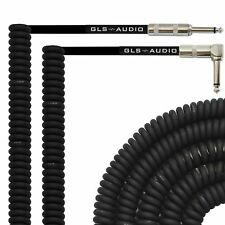GLS Audio 20 Foot Curly Guitar Instrument Cable - Right Angle 1/4 Inch TS to ...