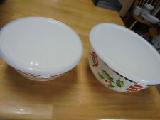 "SE OF 2LENOX ""HOME FOR THE HOLIDAYS"" SERVE & STORE SERVING BOWL  - MADE IN CHINA"