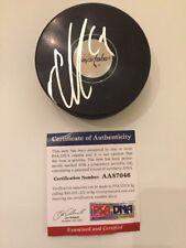 Nicklas Backstrom Signed Logo Puck Washington Capitals PSA DNA Autographed Auto