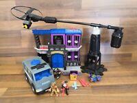Imaginext Gotham City Jail With 2 Figures & Police Vehicle Bundle Playset