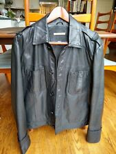 John Varvatos Motorcycle Goat skin Leather Slim Fit Jacket Black Size 40 50 M L
