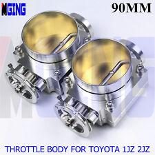 2 x Throttle Body 90mm For Toyota Supra/Soarer 1jz-Gte 2jz-Gte Silver