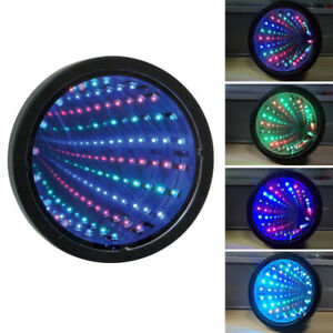 Autism Sensory Toy Infinity Mirror Tunnel Lamp LED Calm Relaxing Toys Light Up