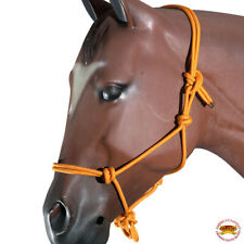 Orange Horse Halter Braided Poly Rope Western Tack By Hilason U-A402