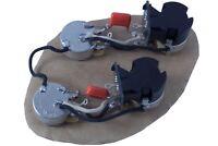 Les Paul, SG, explorer, ES main cavity wiring harness (push/pull coil splitting)