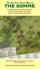 MAP OF THE SOMME - AERIAL MAP OF THE SOMME BATTLEFIELD - 1916 - FOLDED MAP