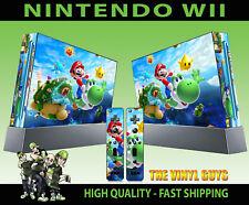 Nintendo Wii STICKER SUPER MARIO GALAXY 2 Yoshi Peach Luigi Skin e 2 SKIN Pad