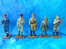 """5 soldats de plomb Delprado -  """"Deux guerres mondiales"""" BU 6 - lot 4"""