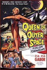 Queen Of Outer Space 1958 Classic Sci Fi  Movie Za Za Gabor Vintage Poster Print