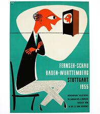 FERNSEH-SCHAU STUTTGART, Originalplakat Deutschland 1955