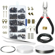 DIY Jewellery Making Kit Wire Findings Pliers Starter Necklace Ring Repair Tool