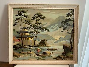 Vintage Oil Painting 19x17