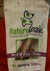 Nature Gnaws Large Bully Sticks 11/22 inch  3 CT Premium Beef Dog Chews SEALED