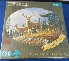 Hautman Brothers Cameo Collection Oval Puzzle 750 Piece Autumn Whitetails