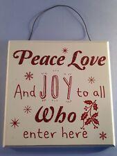 Christmas Wall Plaque
