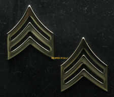 TWO REGULATION US ARMY SERGEANT SET E5 GOLD HAT PIN UP ARMY SGT MILITARY RANK