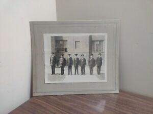Early 1900s Large Cabinet Card Photograph Photo POLICE FIRE GUARDS MILITARY ??