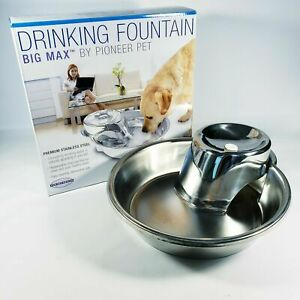 Pioneer Pet Big Max Stainless Steel Drinking Fountain 128 ounces Stainless Steel