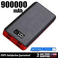 Portable Power Bank 900000mAh 4USB Fast Charging External Battery Pack Charger