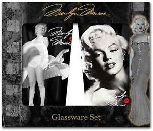 Marilyn Monroe, 16 Oz. Set Of 2, Glassware Set, New!