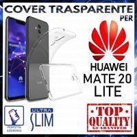 COVER per HUAWEI MATE 20 LITE Custodia Trasparente Morbida Silicone Ultra Slim