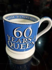 Emma Bridgewater Half Pint Mug - Blue 60 Years A Queen Diamond Jubilee - New