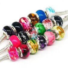Free Shipping 100Pcs Mix Beautiful Acrylic Charm Bead Fit European Bracelets F21
