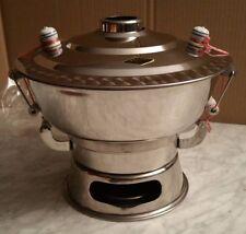 Feuertopf / Mongolentopf/ Fondue /Hot Pot Edelstahl  incl. Rezept u. Zubehör