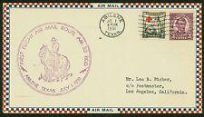 1931 FIRST FLIGHT AIRMAIL ROUTE AM 33 ABILENE, TX TO LOS ANGELES, CA  (ESP#1402)