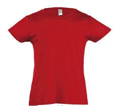 Vêtements rouge pour fille de 2 à 16 ans en 100% coton, 7 - 8 ans