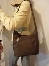 AMERIBAG Catskill WILLOW Shoulder Bag PURSE Chocolate BROWN Organizer GUC .99
