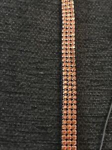 Crystal Copper Coloured Crystal Set hair band