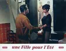 PASCALE PETIT MICHEL AUCLAIR UNE FILLE POUR L'ÉTÉ 1960 VINTAGE LOBBY CARD #7