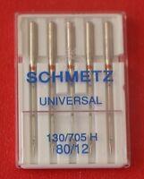 Schmetz Universal 80/12 sewing machine needles pkt of 5