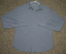 Valerie Stevens Pure Silk Dress Shirt Blue Women's Woman 4P Four Petite Solid