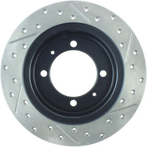 Disc Brake Rotor-Sport Drilled/Slotted Disc Rear Right Stoptech 127.39028R