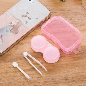 Travel Contact Lens Case Box Eye Transparent Pocket Plastic Kit Container Holder
