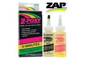 Pacer Zap PT-37 Z-POXY 5 Minute Epoxy Resin 4oz Pack PT37