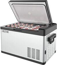 Car Refrigerator 32Qt Portable Fridge Freezer Dual Temperature Cooler 12/24V Dc
