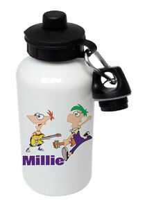 Phineas & Ferb Personalised Kids/Drinks/Sports Childrens Water Bottle
