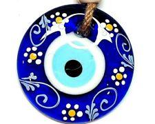 Nazat boncuk 7cm colgaduras largo 22cm ojos de vidrio remolques decorativas Evil Eye nz36