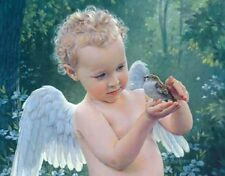 Kathy Lawrence NOT ONE IS FORGOTTEN 11x14 double matted print, angelic child