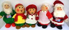 Pepsi Christmas Carolers 5 Plush Dolls Animal Fair Vintage 1970s  Santa Display